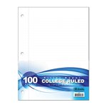 COLLEGE RULED PAPER 100 SHEETS 565