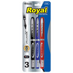 ROYAL ASSORTED COLOR ROLLERBALL PEN 2PK 1721
