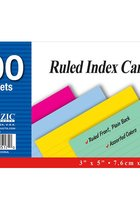 COLORED RULED INDEX CARD 100CT 517