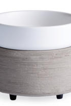 2-IN-1 FRAGRANCE WARMER - GRAY TEXTURE