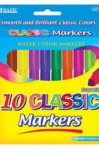 CLASSIC WATER COLOR MARKERS 10PK 1223