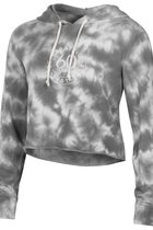 CROPPED TERRY HOODIE - GRAY