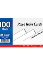 RULED INDEX CARDS 3X5 WHITE 516