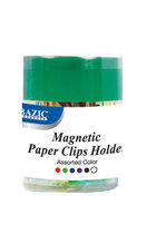 MAGNETIC PAPER CLIP HOLDER W/50 CLIPS 242