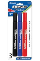 3PK PERMANENT MARKERS 1216